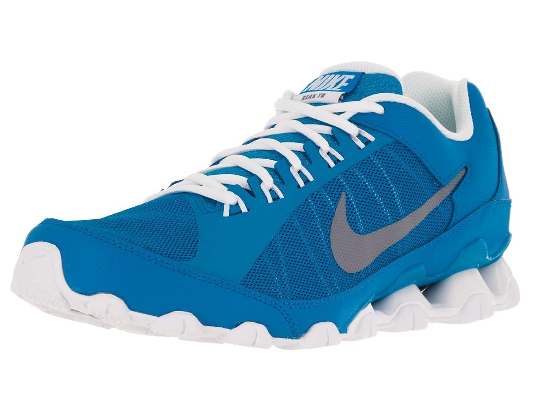 Amazon.com | NIKE Men's Reax 9 TR Mesh Photo Blue/Cool Grey/White Training  Shoe 8 Men US | Running