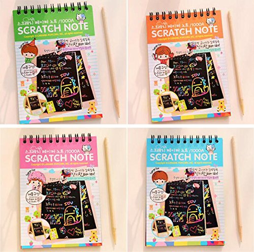 4pack-iffree-scratch-sketch-art-note-pads-scratch-art-rainbow-mini-notes-with-stylus-scratch-paper-1