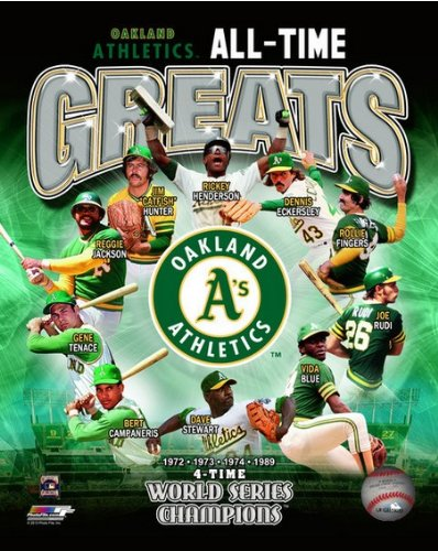 MLB Oakland As All Time Greats 4 Time World Series Champions Composite Photo 8x10