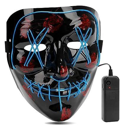 AIWOGEP Halloween LED Máscaras,Mascaras de Halloween,Craneo Esqueleto Mascaras,para la Navidad Halloween Cosplay Grimace Festival Party Show, Fiesta ...