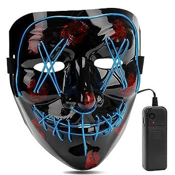 Aiwogep Halloween Led Mascaras Mascaras De Halloween Craneo