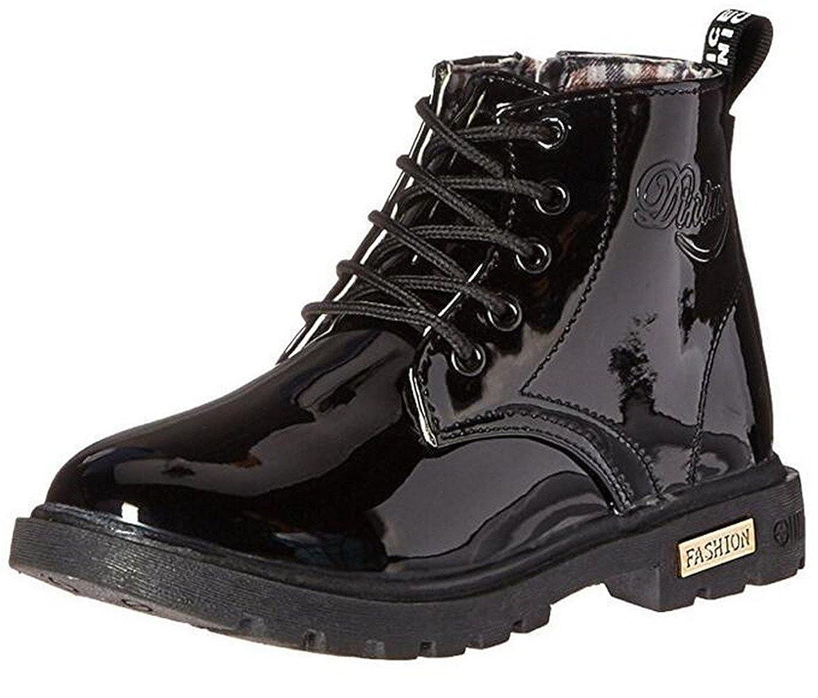 DADAWEN Mixte Enfant/Garçon/Fille/Bébé Waterproof Lace-Up Boots