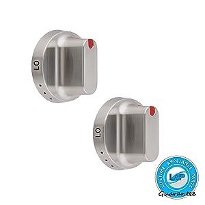 2 x DG64-00347B Dial Knob for Samsung Range Oven - DG64-00472B