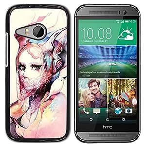 iKiki Tech / Estuche rígido - Fashion Watercolor Art Design Clothes - HTC ONE MINI 2 / M8 MINI