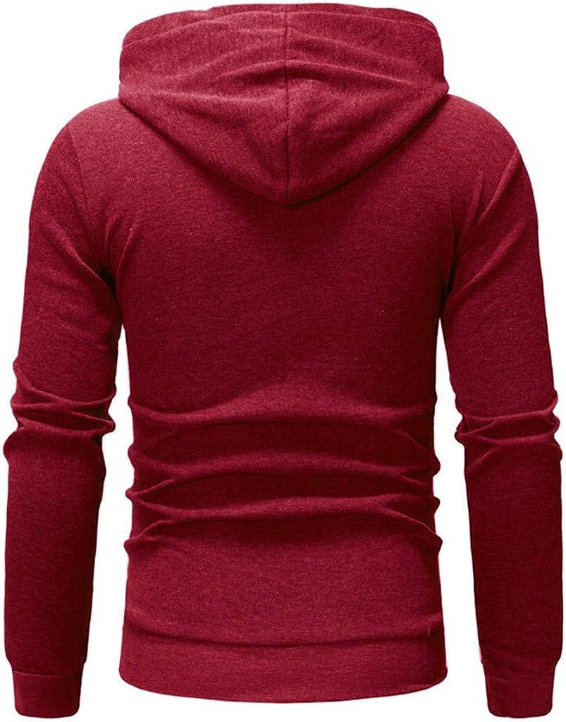 SPE969 Mens Pull on Drawstring Hoodie,Long Sleeve Autumn Winter Casual Sweatshirt Hoodies Top Blouse Tracksuits