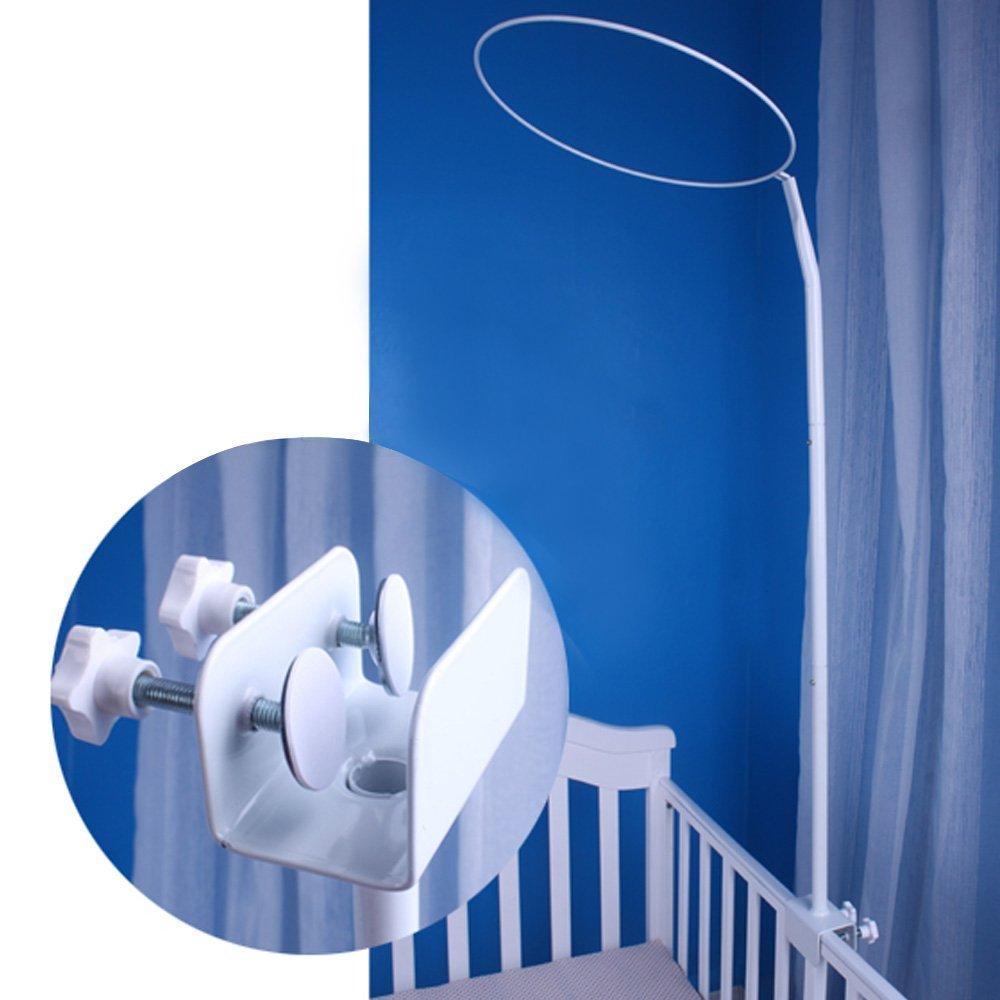 Support r/églable de support de moustiquaire en m/étal pour la parenth/èse de lit de lit de b/éb/é de lit de b/éb/é