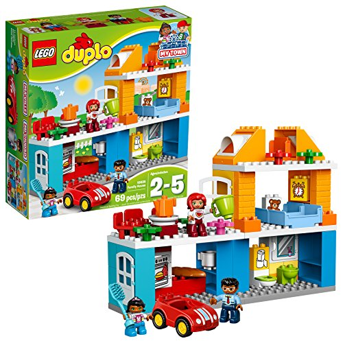 LEGO Duplo My Town Family House Building Block Toys for Toddlers