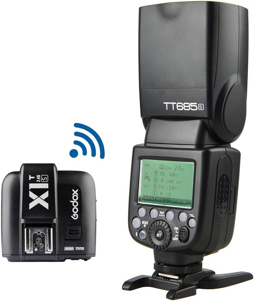 Godox TT685S TTL Flash Speedlite for Sony Camera HSS 1//8000S /& Godox X1T-S 2.4G TTL Wireless Flash Trigger,Compatible for Sony DSLR Cameras a77II a7RII a7R a58 a99 ILCE6000L