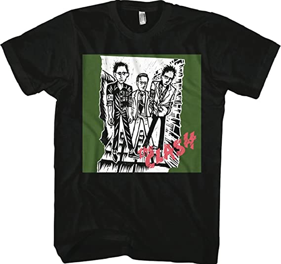 3f1bc815 Amazon.com: Clash Sketch Of First Album Men's T-Shirt: Clothing