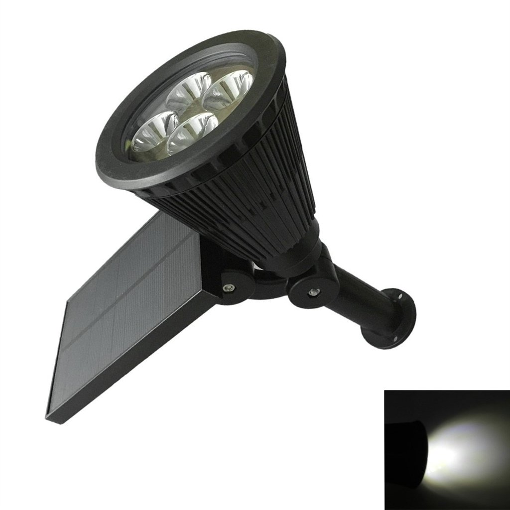 MyEasyShopping Inserted Ground Lamp 2W for Outdoor Garden - Black by MyEasyShopping