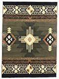 Rugs 4 Less Collection Southwest Native American Indian Area Rug Design R4L 318 Olive Green, Sage Green (8'X10')
