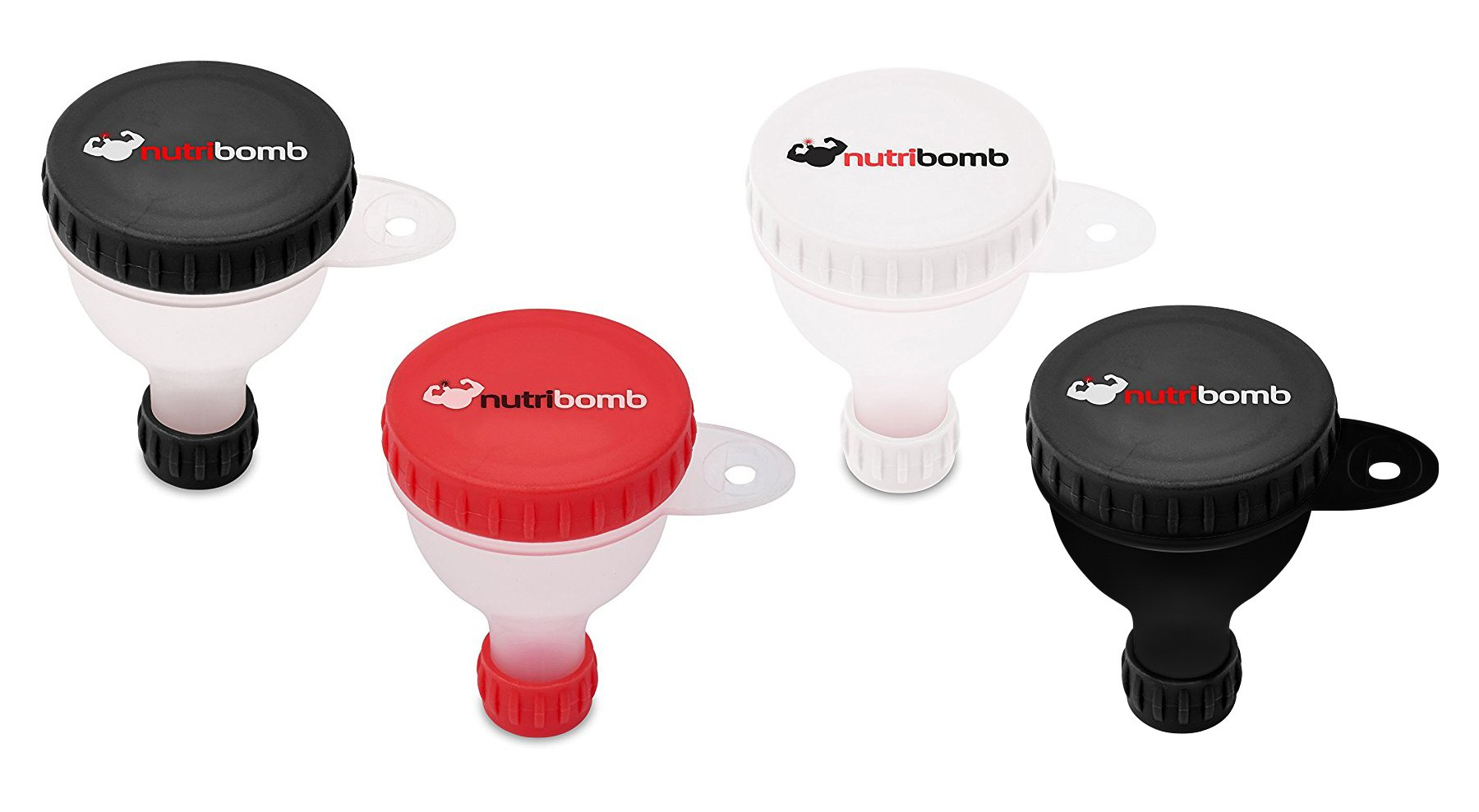 Nutribomb Small Fill N Go Funnel - Supplement Funnel - Water Bottle Funnel - Funnel for Pre-Workout - BCAAs - Creatine - Glutamine(4)