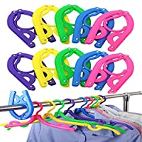 Daixers 10PCS Portable Folding Clothes Hangers Clothes Drying Rack for Travel