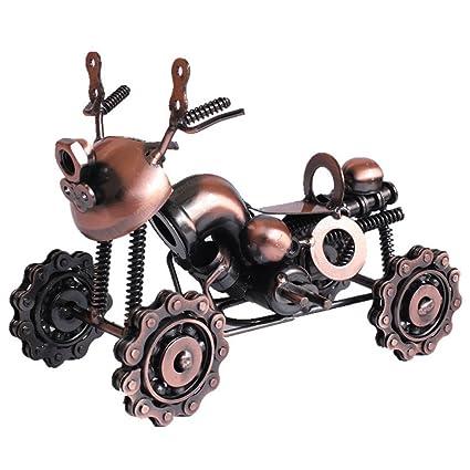 Cadena de hierro cuatro rueda Metal playa motocicleta creativo regalo de cumpleaños regalo Tour, bronce