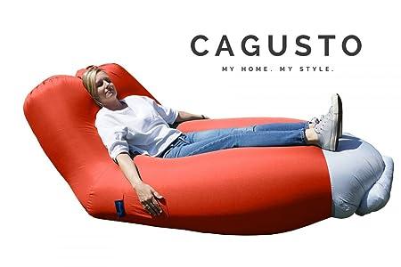 Sofá hinchable de Cagusto®, color rojo, con respaldo ...