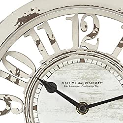 Antique Contour Clock - 10 Distressed Ivory Dimensions: 2D x 10 Diameter Weight: 1 lbs.