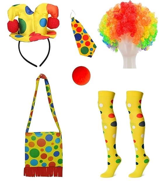 Amazon.com: Clown - Gorro para disfraz (incluye bolsa para ...