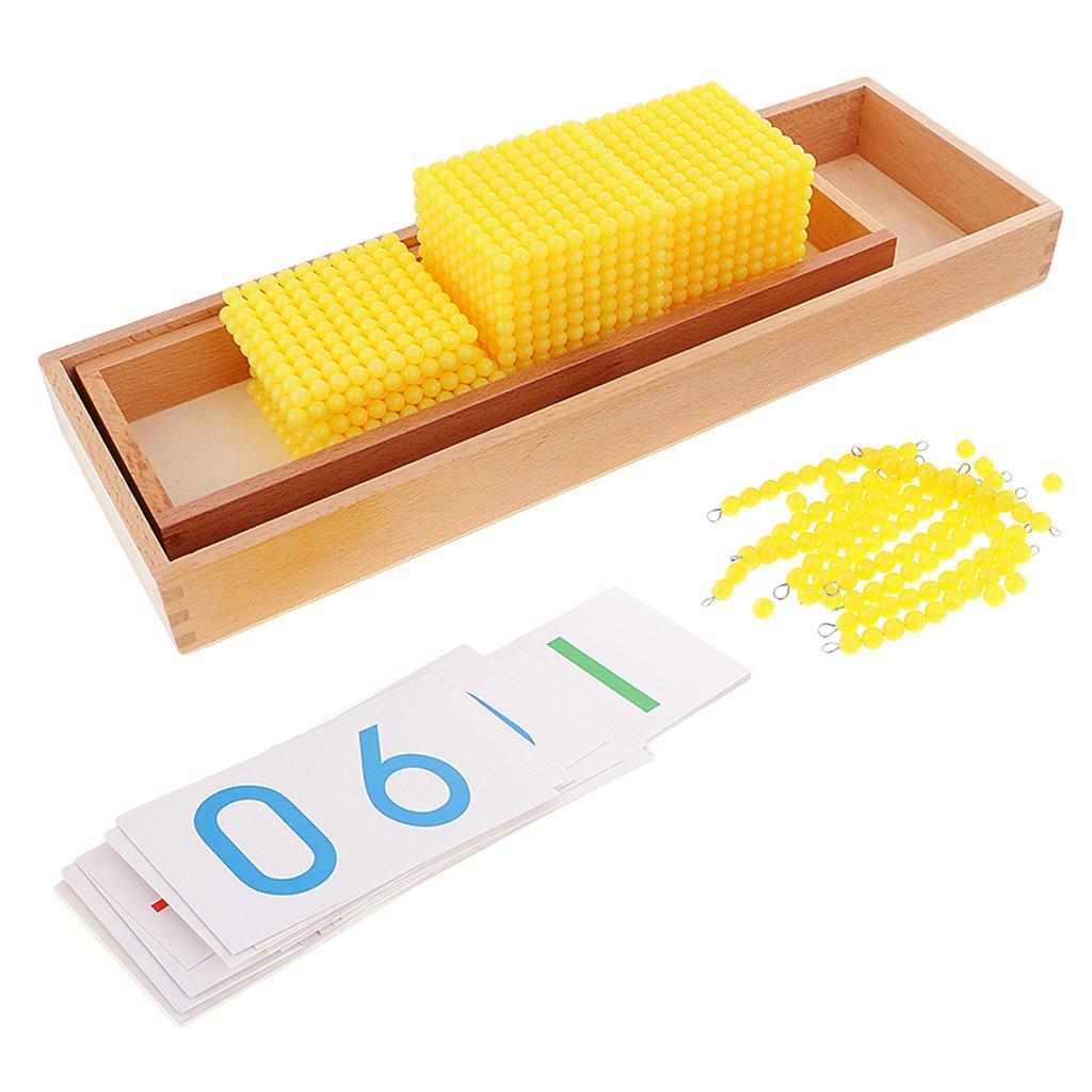 MagiDeal Montessori Mathematik Material, Bankspiel für Kinder, inkl. und Zahlenkarte und inkl. Zahlperlen 97d31d
