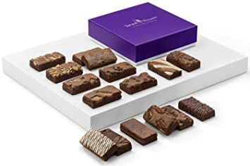 Fairytale Brownies Sprite 16 Gourmet Chocolate Food Gift Basket - 3 Inch x 1.5 Inch Snack-Size Brownies - 16 Pieces - Item SF216