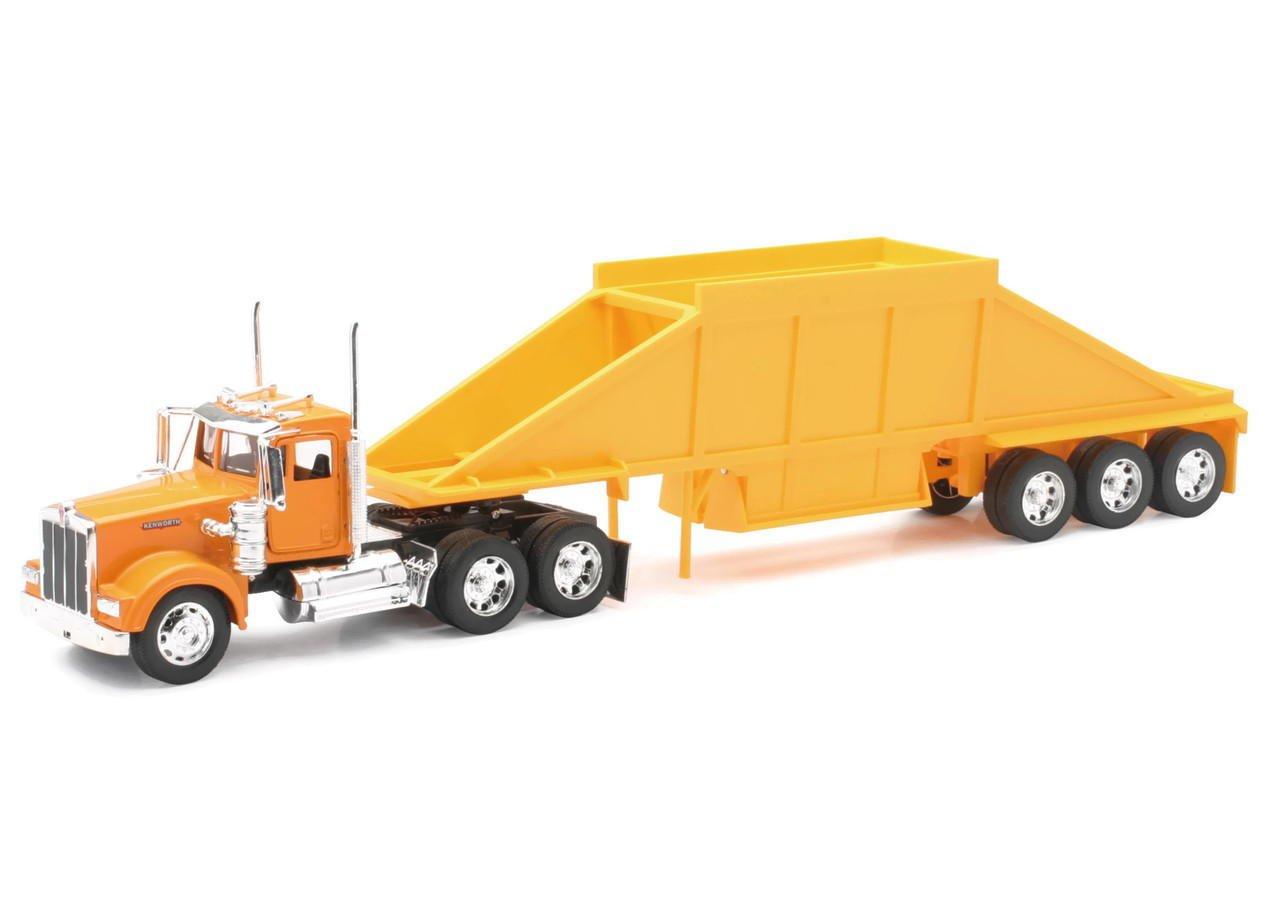 Kenworth W900 Belly Dump Truck Diecast Truck Replica 1 32 Scale