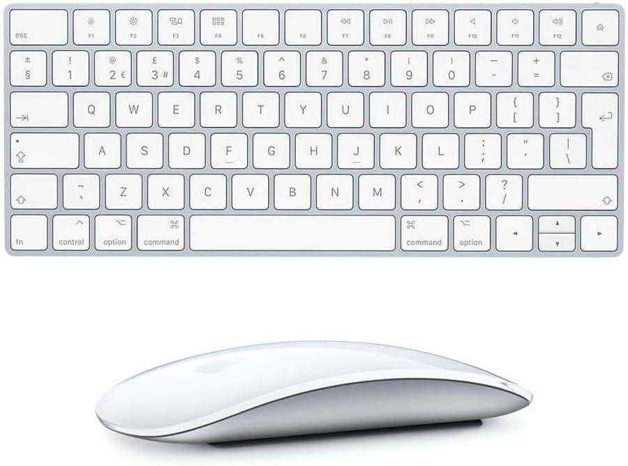 Apple Wireless Keyboard with Apple Magic Bluetooth Mouse (Renewed)