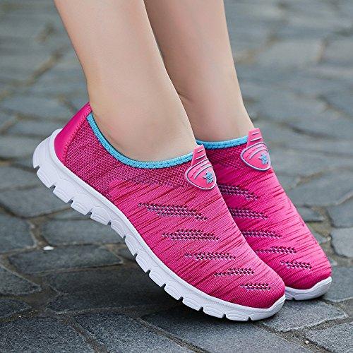 Bluelover Sports De Plein Air Running Chaussures Athlétiques Occasionnels Maille Confortable Respirant - Gris - 8 Gris QPUZgvTdPV