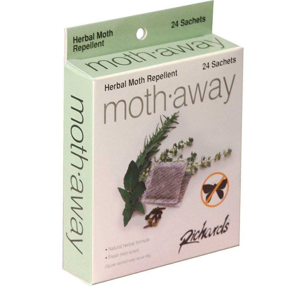 Richards Homewares Moth Away Sachets Nontoxic (White) (1-Pack of 24 Sachets)