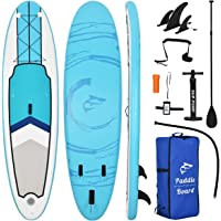 """BONSPO10'6"""" 32"""" 6"""" Inflatable Stand Up Paddle Board with Premium Free Sup Accessories,Travel Backpack,Paddle,Leash,Hand…"""