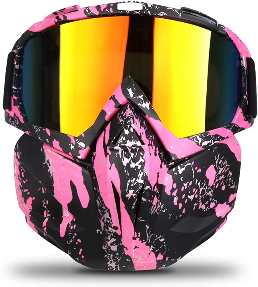 Freehawk Motorcycle Goggle Mask Detachable Snowmobile Off-road Riding Goggles : Clothing