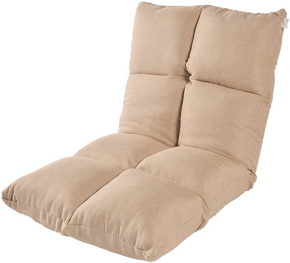 Xiao Tian Portable Multi-Purpose Lazy Single Sofa,Living Room Furniture Recliner (Color : Khaki)