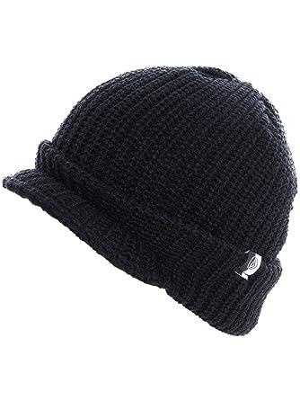 4954599240ec Mens Volcom Fume Visor Beanie Ski/Snow Peak Beanie Hat (Black ...