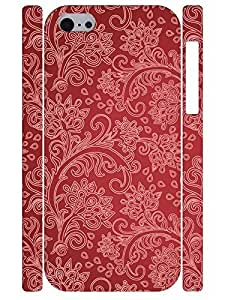 Cute Beautiful Paisley Flower Slim Phone Shell Case Fits for Iphone 5C