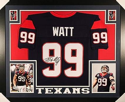 huge selection of 5baa3 b6284 JJ Watt Signed Texans 35x43 Custom Framed Jersey (JSA) 4× Pro Bowl  (2012–2015)