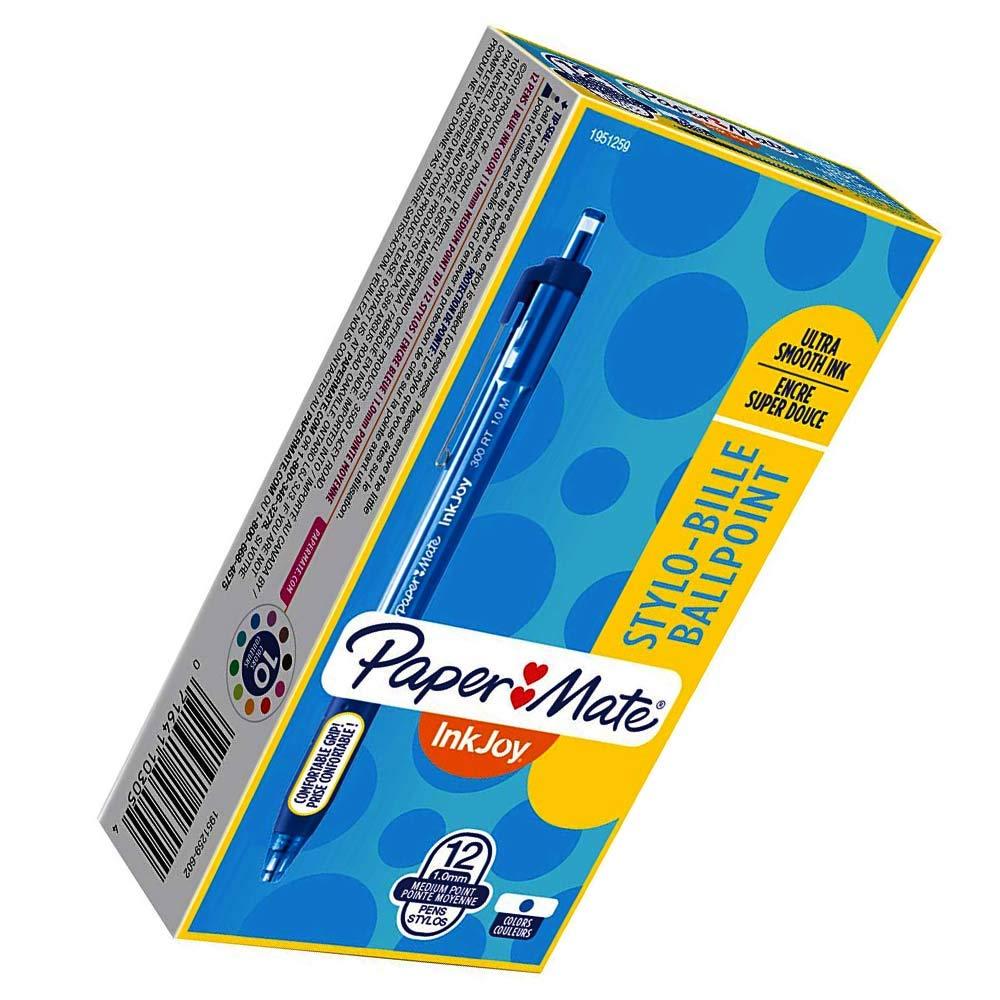 Retractable Ballpoint Pens, Medium Point, Blue (2 Pack) (Update Version)