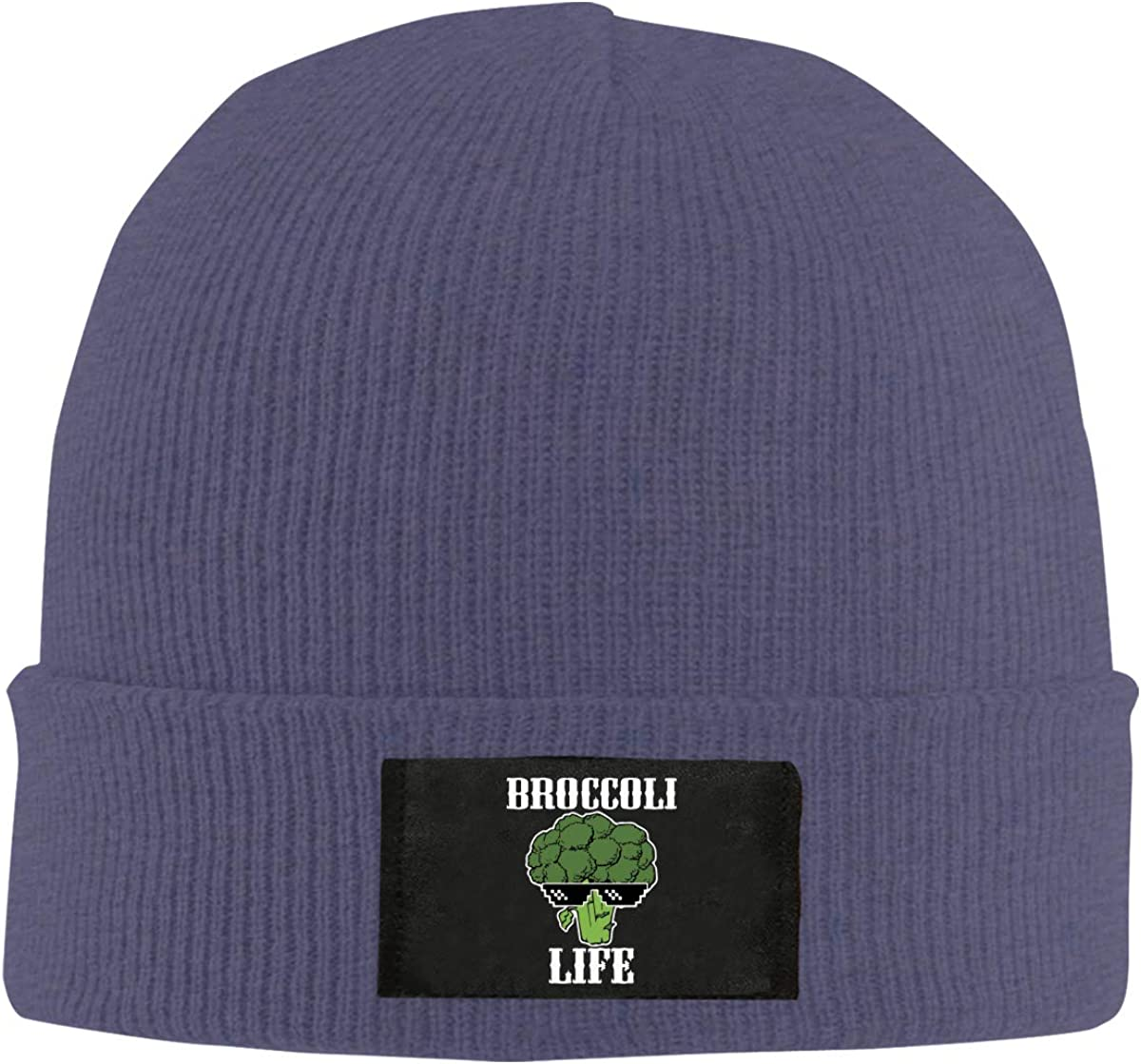 Broccoli Life Unisex Knitted Hat Comfortable Skull Cap