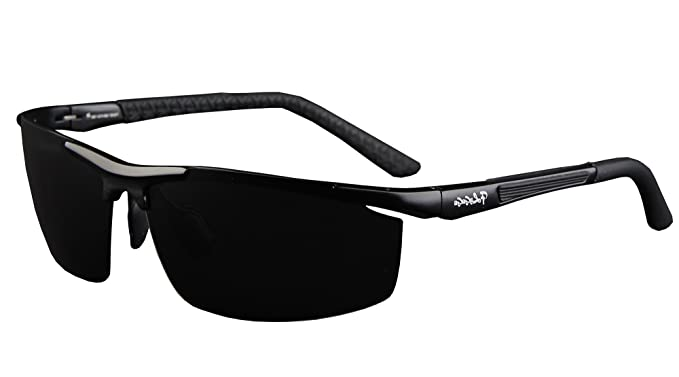 50002655ed0547 Polarisierte Sonnenbrille Herren Fahrerbrille UV 400 Schutz Metallrahmen  Sport Brille Stil 1 Schwarz