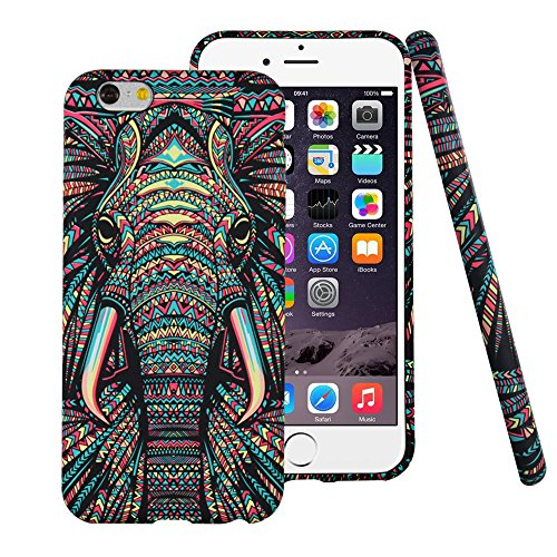 iPhone 6 6s Case,CLOUDS Luminous Luxury Fashion Cool Cute Elephant Tribe Stripe...