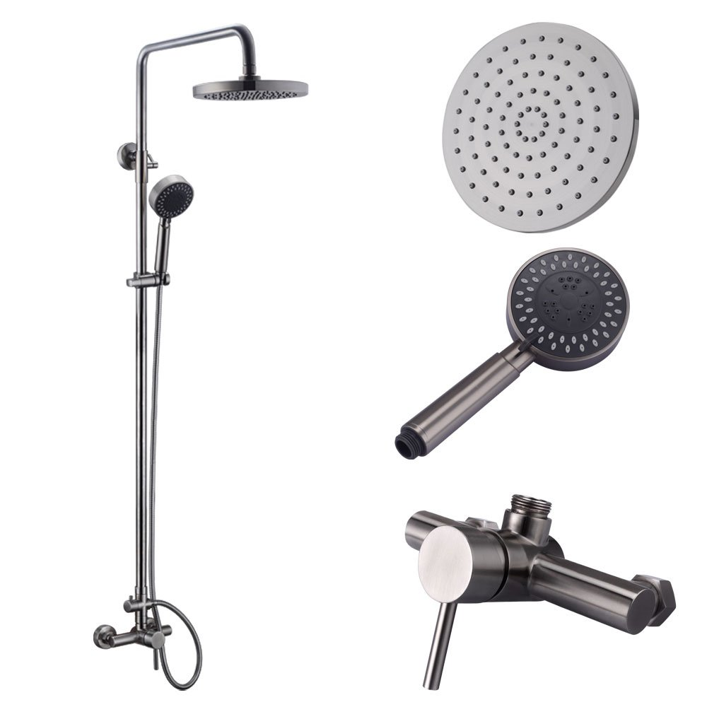 KES Shower System, Bathroom Faucet Set with Rain Shower Head and ...