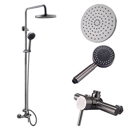KES Shower System, Bathroom Faucet Set With Rain Shower Head And Handheld  (Lead