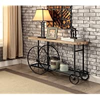 ComfortScape CS-FOA-IDF-4324S Belliso Decorative Wheel Console Table, Medium