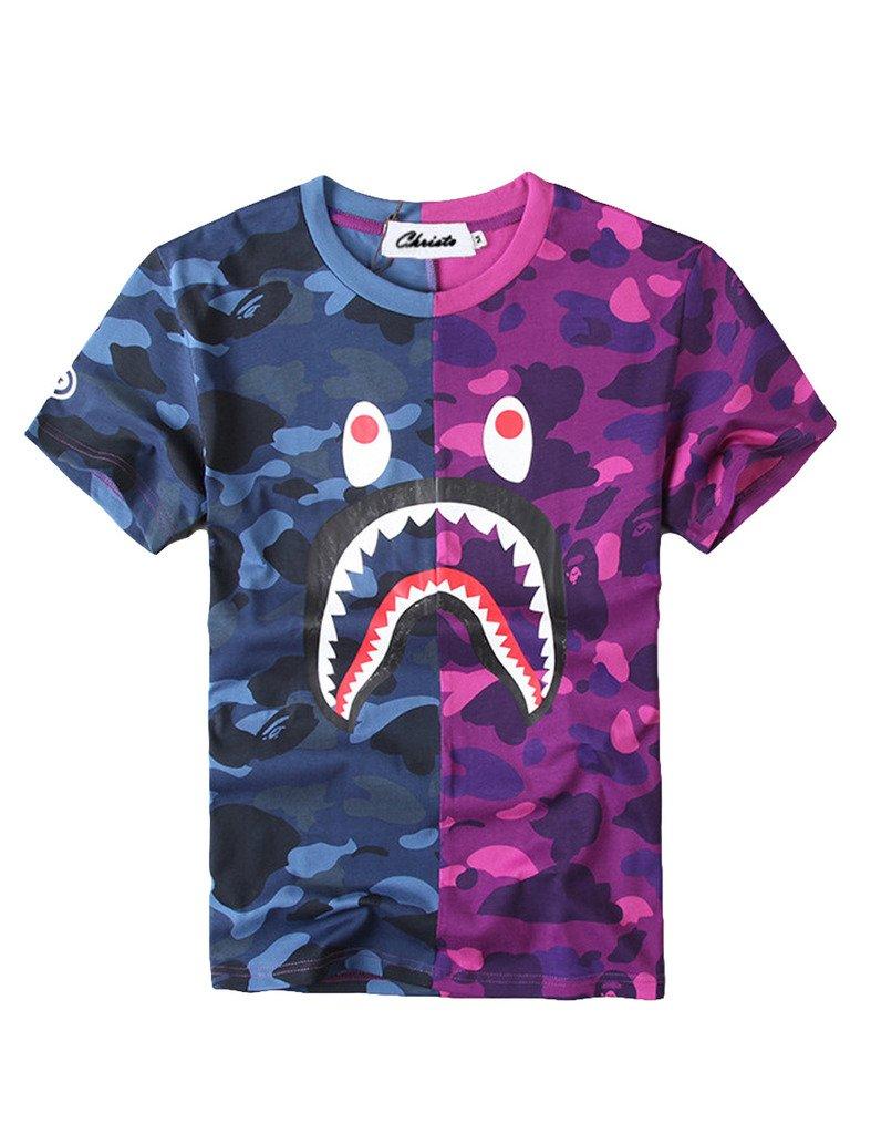Christo Boys Casual Fashion Crewneck T Shirt Camo Tees Unisex Pullover Tops