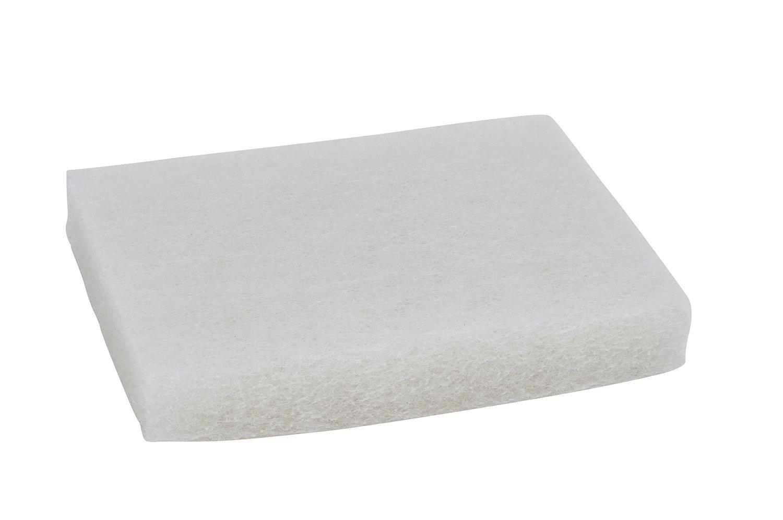3M Scotch-Brite 9030 Light Duty Scrubbing Pad, 5'' Length x 3-1/2'' Width, White (Case of 40)