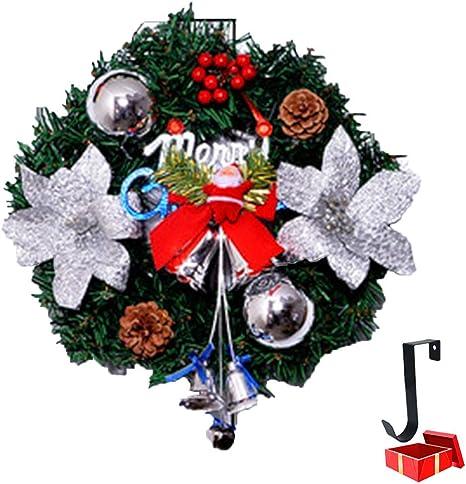 LNDDP Guirnalda Navidad Decoraciones Papá Noel con Luces y Ganchos, Escaleras la Puerta Principal Chimeneas Guirnaldas Decoradas Decoración Festiva del árbol Navidad con Luces LED batería 8 Modos: Amazon.es: Deportes y aire