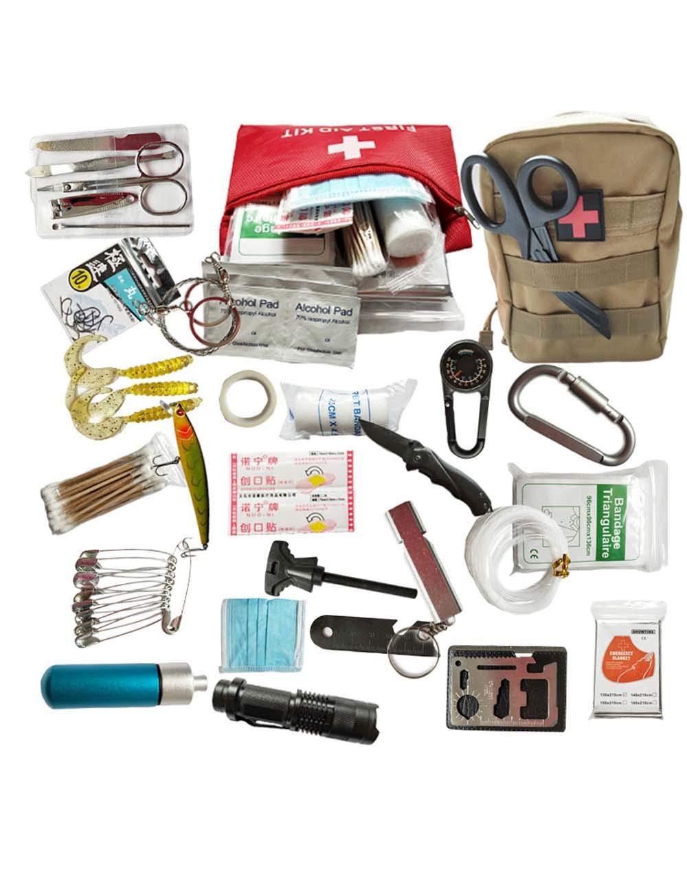 Geambo Medizinische Tasche Auto Tragbare Familie Notfall Kit Notfall Überleben Dringend Erste-Hilfe-Kit