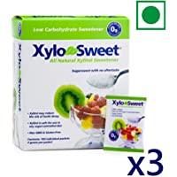 Xlear XyloSweet Xylitol Natural Sugarfree Sweetener 100 Sachets (4 gms each), 3 Pack