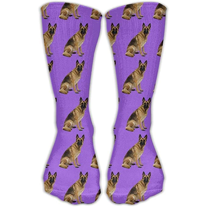 Yuerb Calcetines Altos Casual German Shepherd Repeat Cotton Crew Shoe Long Socks Breathable Travel Stocking One Size: Amazon.es: Deportes y aire libre