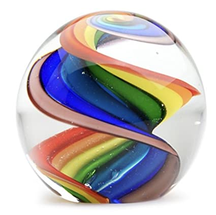 amazon com round ball glass unusual paperweight art glass 4 large