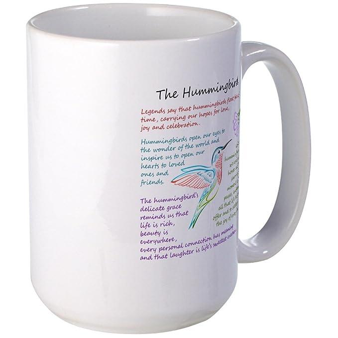Amazon.com: CafePress - The Hummingbird Mugs - Coffee Mug, Large 15 oz. White Coffee Cup: Kitchen & Dining