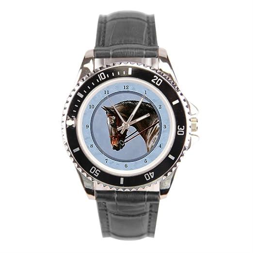 findself Hombres del Caballo de los relojes de cuero banda reloj de pulsera: Amazon.es: Relojes