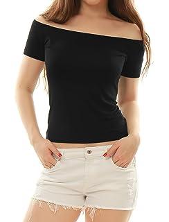 b336eed6ea Shawhuwa Womens Sexy Off Shoulder Leotard Bodysuit Clubwear Romper ...